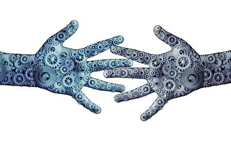 Photo pour Working business teamwork concept  - image libre de droit