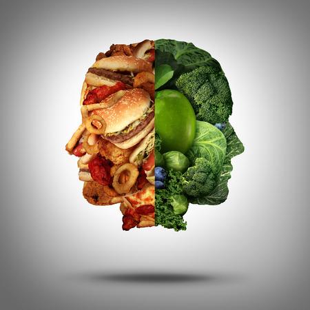 Photo pour Food concept and diet decision symbol  - image libre de droit