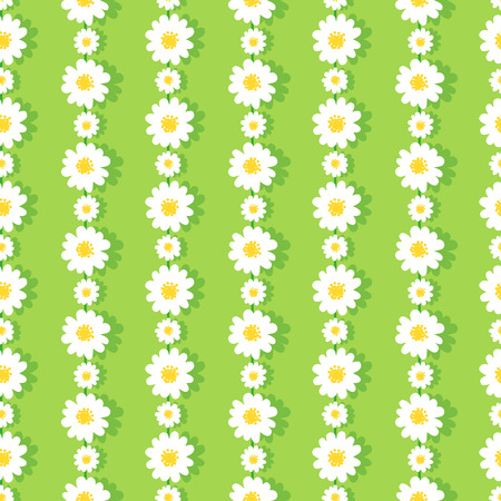 Illustration pour Seamless Daisy Chain Pattern - image libre de droit