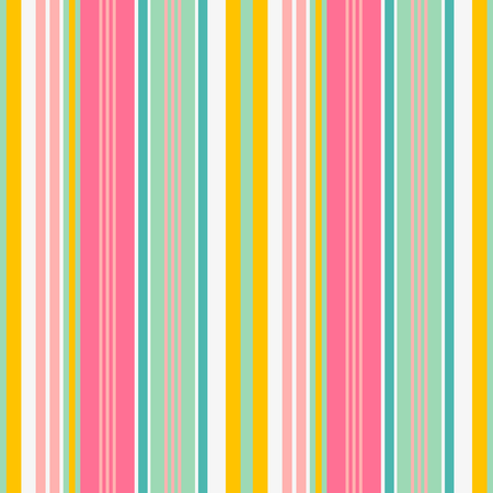 Illustration pour Striped seamless pattern. Colorful bold line vector background. Cheerful colors with fun stripes for summer - image libre de droit