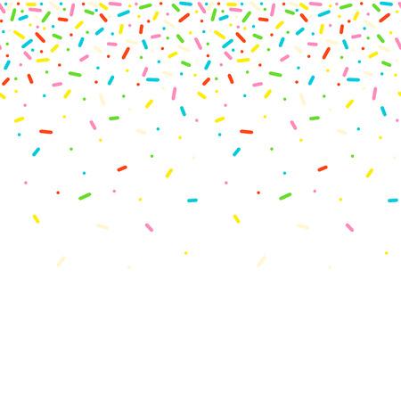 Illustration pour Seamless pattern with colorful sprinkles - image libre de droit