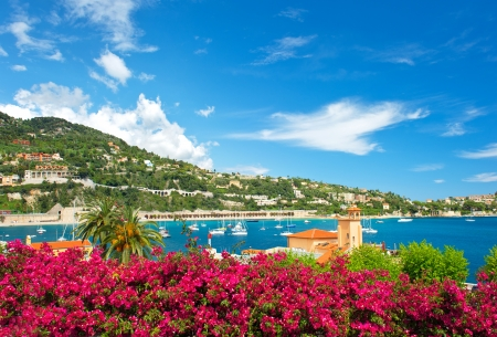 Photo for beautiful mediterranean landscape. french riviera near Nice and Monaco - Royalty Free Image
