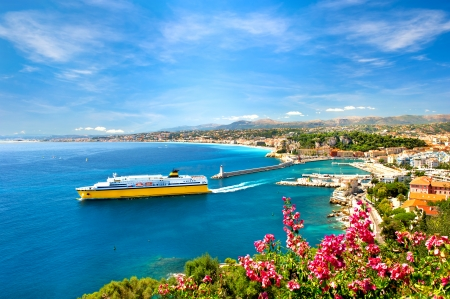 Photo for View of mediterranean resort, Nice, Cote d - Royalty Free Image