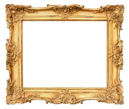 Photo for old golden frame  beautiful vintage background - Royalty Free Image