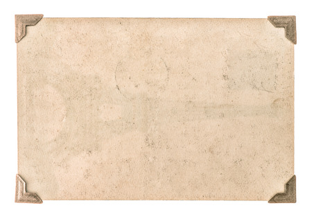Photo for old photo paper with corner isolated on white background. grungy cardboard - Royalty Free Image