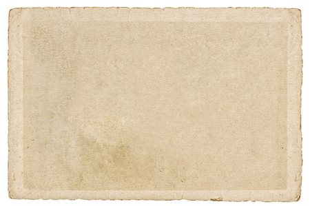 Photo for Used paper cardboard with edges isolated on white background. Texture. Background - Royalty Free Image