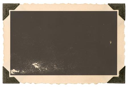 Foto de Vintage paper photo card with corner isolated on white background - Imagen libre de derechos