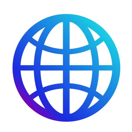 Illustration pour icon internet. Symbol of the website. Globe sign - image libre de droit
