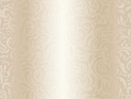 Ilustración de Luxury cream background with floral pattern - Imagen libre de derechos