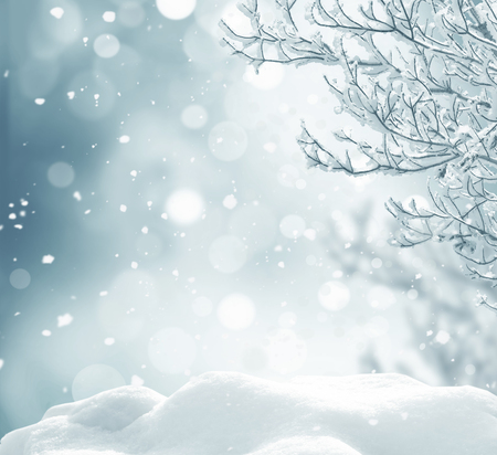 Photo pour winter christmas background - image libre de droit