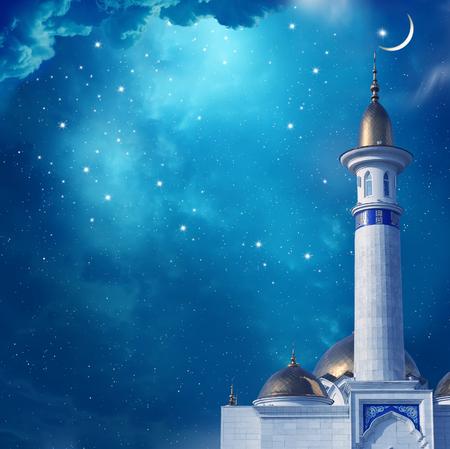 Foto de Ramadan Kareem background with mosque - Imagen libre de derechos