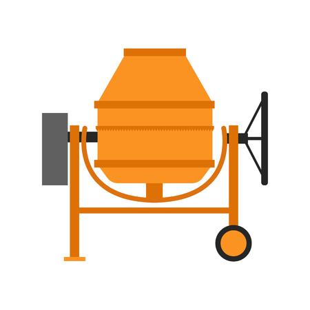 Illustration pour Isolated concrete mixer icon in a flat style. - image libre de droit