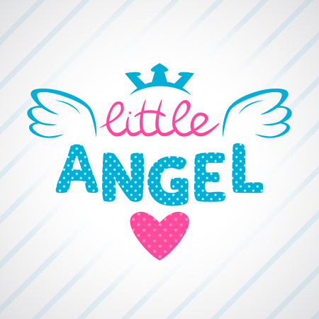 Photo pour Cute vector girlish illustration, vector template for girls t-shirts design - image libre de droit