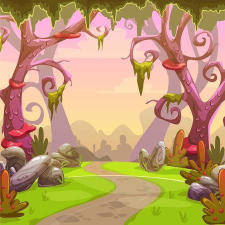 Illustration pour Fantasy forest illustration. - image libre de droit