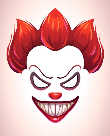 Illustrazione per Creepy clown mask. - Immagini Royalty Free