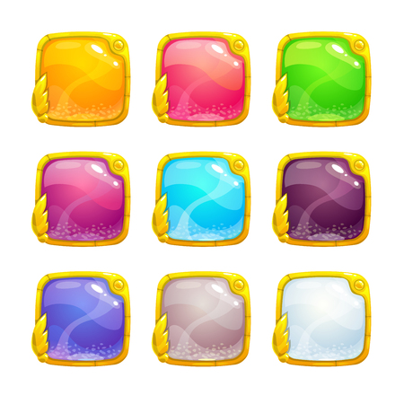Illustrazione per Beautiful colorful square buttons - Immagini Royalty Free