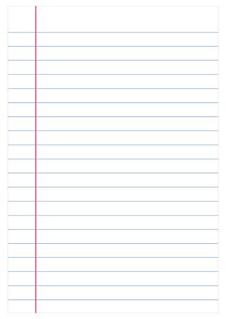 Ilustración de Notebook paper background, vector - Imagen libre de derechos