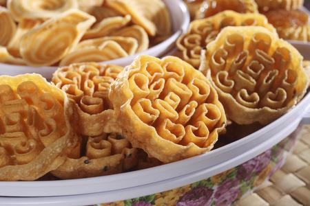 Foto de kuih Loyang tranditional food for the festive - Imagen libre de derechos