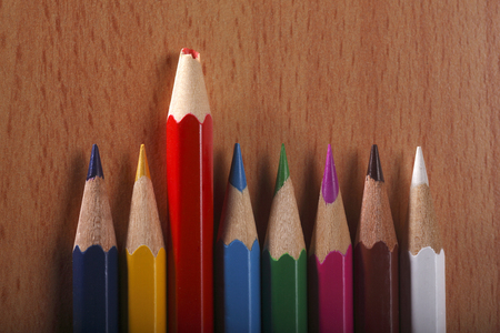 Photo pour blunt color pencil stand out from the crowd - image libre de droit