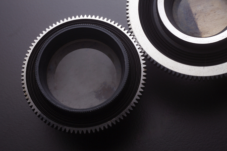 Photo for stock image of the old lense with gear - Royalty Free Image