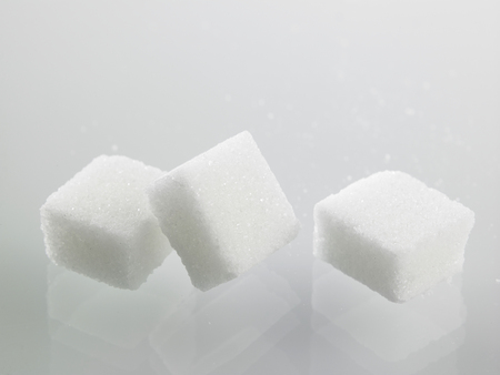 Photo for cube sugar on the gray background - Royalty Free Image