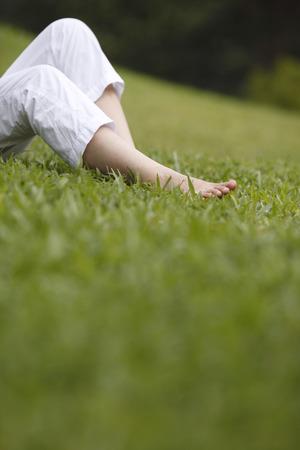 Foto de Close up of human feet - Imagen libre de derechos