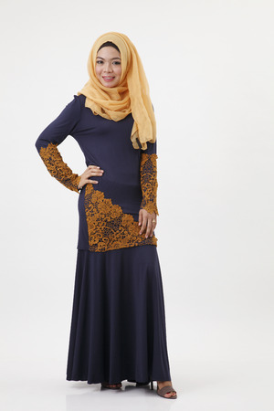 Photo for full length of the malay woman show posing - Royalty Free Image