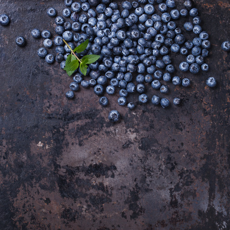 Photo for Blueberries on a dark background.Copy space for your text. Healthy food.selective focus - Royalty Free Image