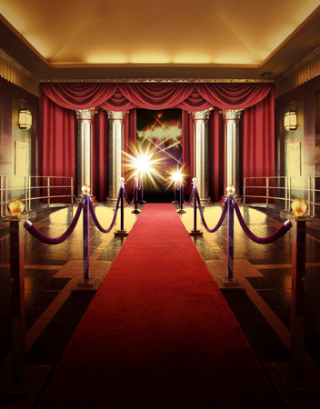 Photo for red carpet entrance to entertainment theater - Royalty Free Image