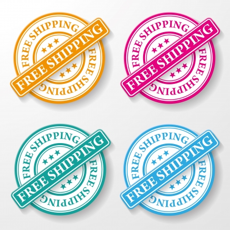 Free shipping colorful paper labels