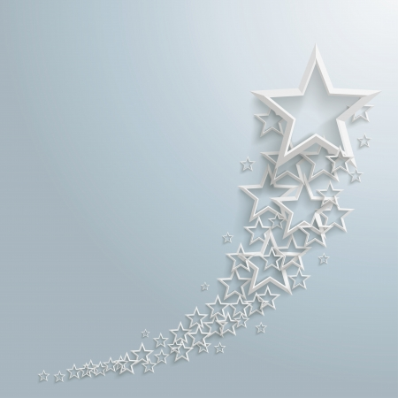 Illustration for White stars on the grey background  - Royalty Free Image