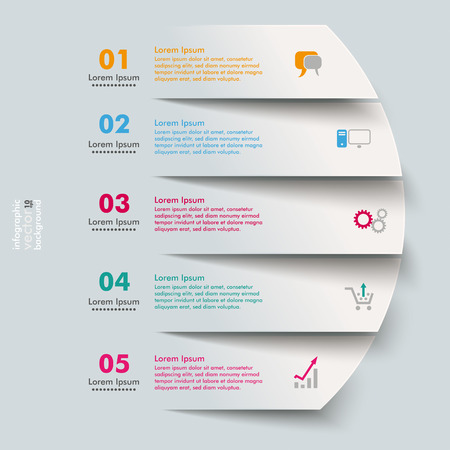 Ilustración de 5 cutting banners on the grey background.  - Imagen libre de derechos