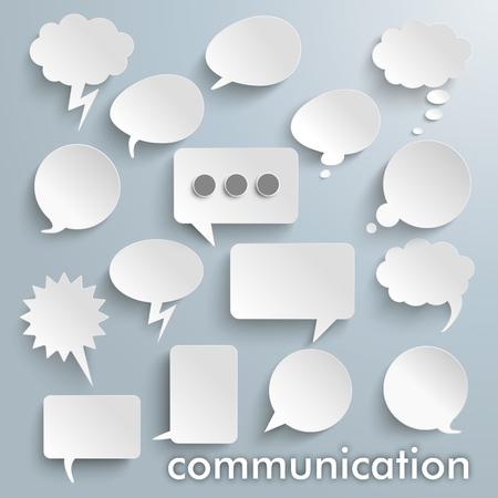Illustration pour Communication bubbles set on the gray background. vector file. - image libre de droit