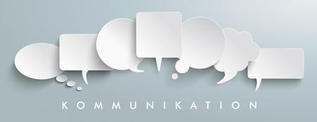 Illustration pour German text Kommunikation, translate communication. vector file. - image libre de droit
