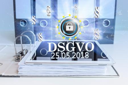 Foto für German text DSGVO, translate General Data Protection Regulation. Eps 10 vector file. - Lizenzfreies Bild