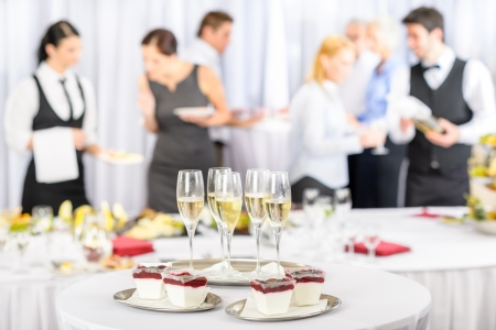Photo for Desserts and Champagne for business meeting conference participants - Royalty Free Image