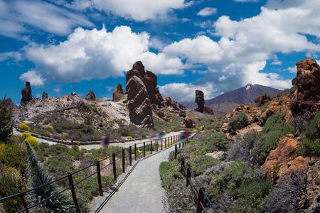 Photo pour El Teide National Park, Tenerife, Canary Islands, Spain - image libre de droit