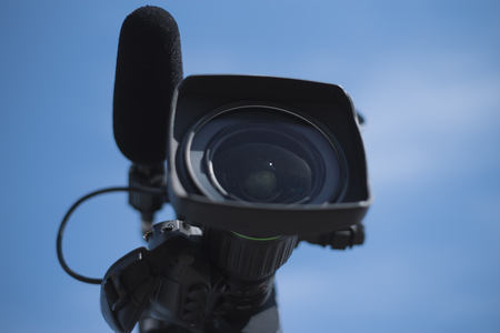 Photo for Video camera for shooting a concert on television - Royalty Free Image