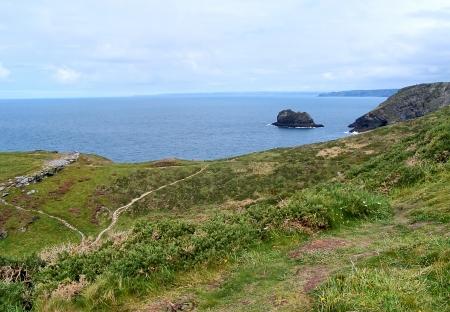 Coast of Cornwall near Tintagel