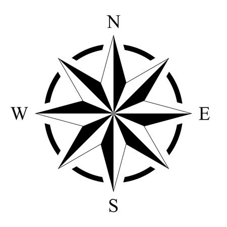Illustration pour Compass rose compass rose marine perspective navigation isolated background vector - image libre de droit