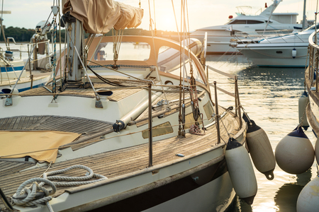 Photo for Yacht on dock - Royalty Free Image