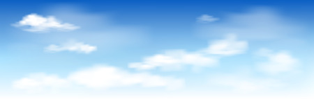 Illustration pour White clouds on the blue sky. Abstract background with clouds on blue sky. In the clear sky high floating clouds. - image libre de droit