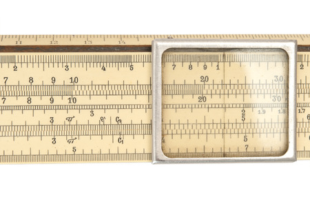 Photo for Old slide rule macro - Royalty Free Image