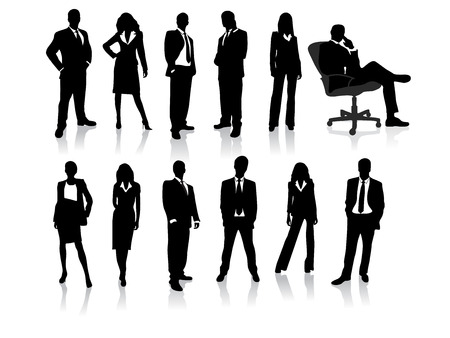 Photo pour business people silhouettes - image libre de droit