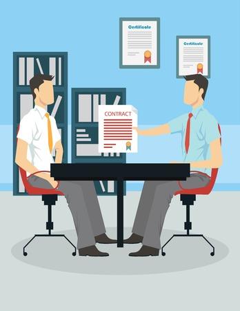 Illustration pour Job interview concept - image libre de droit