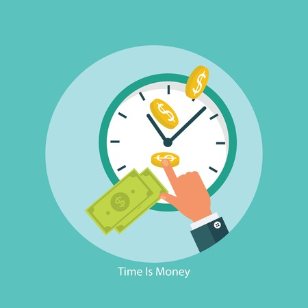 Illustration pour Time is money financial concept - image libre de droit