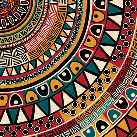 Illustration pour Tribal ethnic background, abstract art - image libre de droit