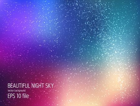 Ilustración de Vector illustration - deep sky night with stars and Milky Way - Imagen libre de derechos