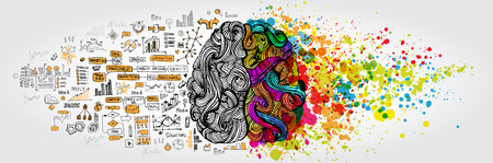 Illustration for Left right human brain concept - Royalty Free Image