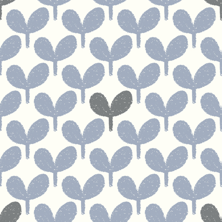 Illustration pour vector blue and gray leaf seamless repeat pattern - image libre de droit